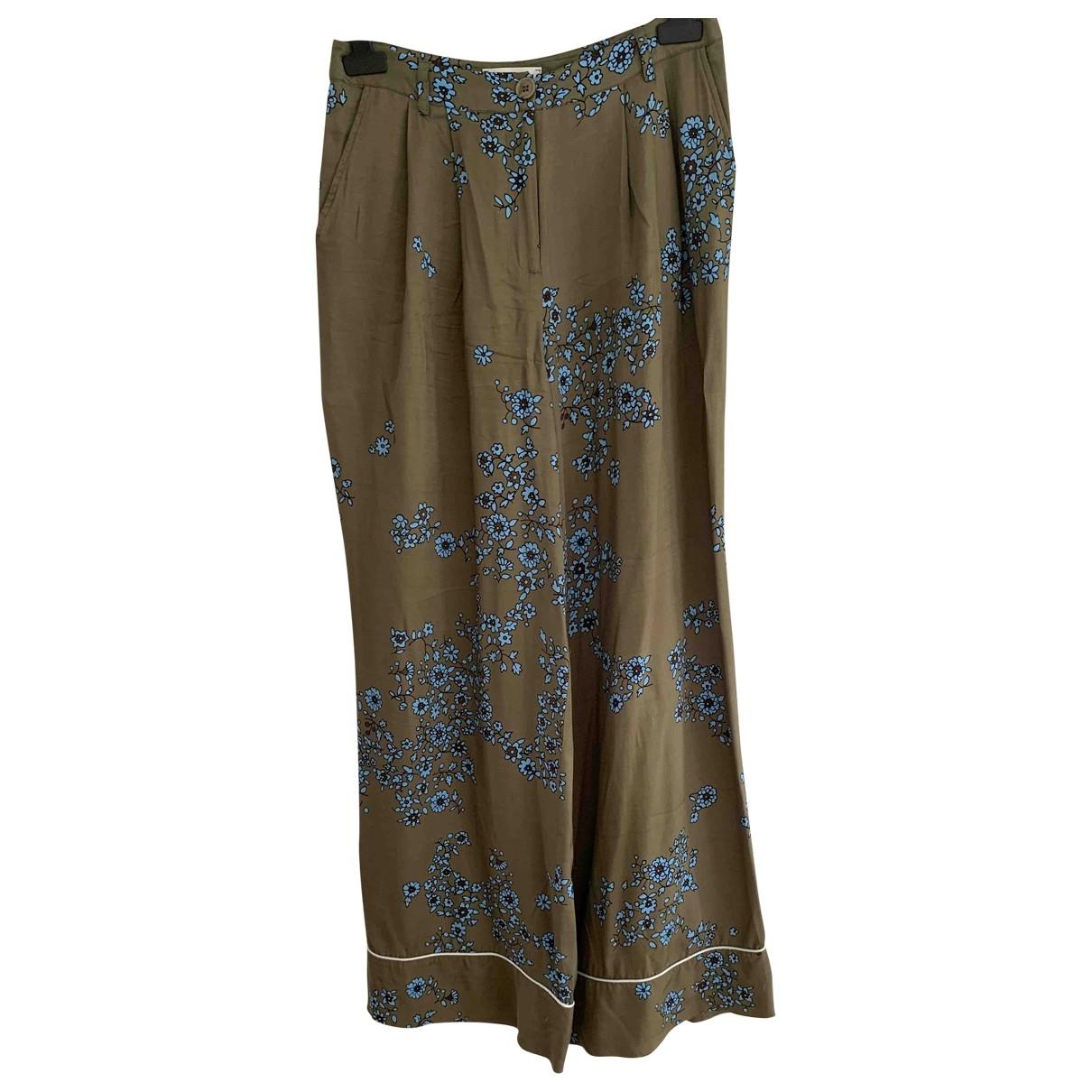 Essentiel Antwerp \N Khaki Trousers for Women 38 FR
