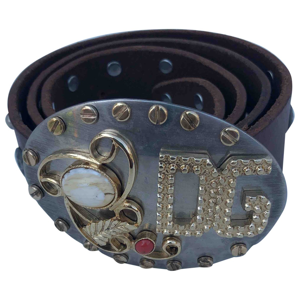 Dolce & Gabbana \N Brown Leather belt for Women 85 cm