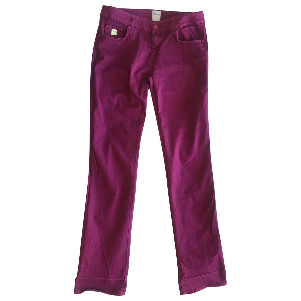 Red Valentino Garavani \N Purple Cotton - elasthane Jeans for Women 30 US