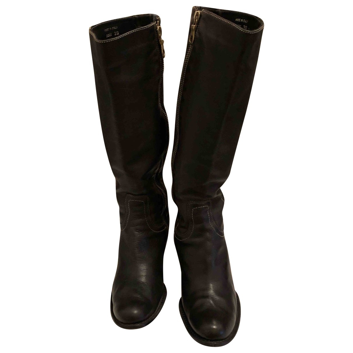 Paul Smith \N Charcoal Leather Boots for Women 39 EU