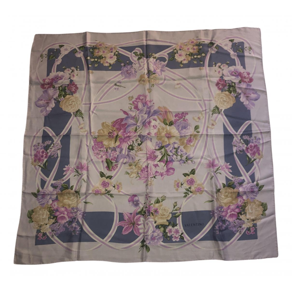 Valentino Garavani \N Purple Silk Silk handkerchief for Women \N