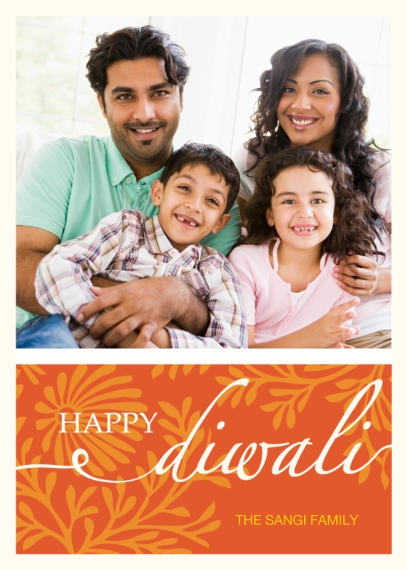 Diwali Cards Flat Matte Photo Paper Cards with Envelopes, 5x7, Card & Stationery -Happy Diwali