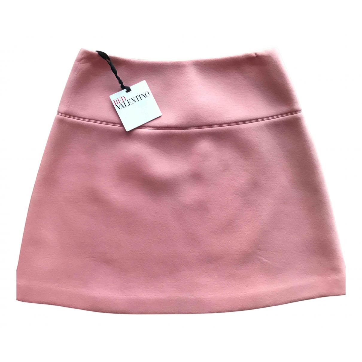 Red Valentino Garavani \N Pink Cotton skirt for Women 10 UK
