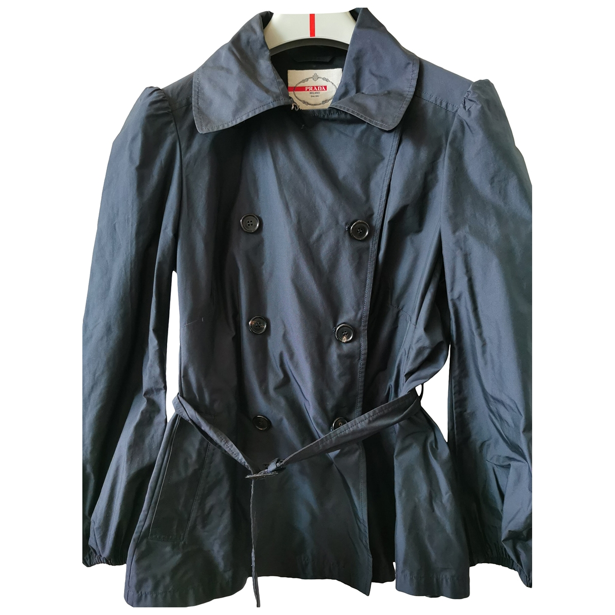 Prada \N Blue Trench coat for Women 40 FR