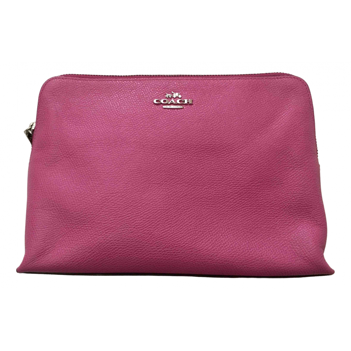 Coach \N Pink Leather Travel bag for Women \N