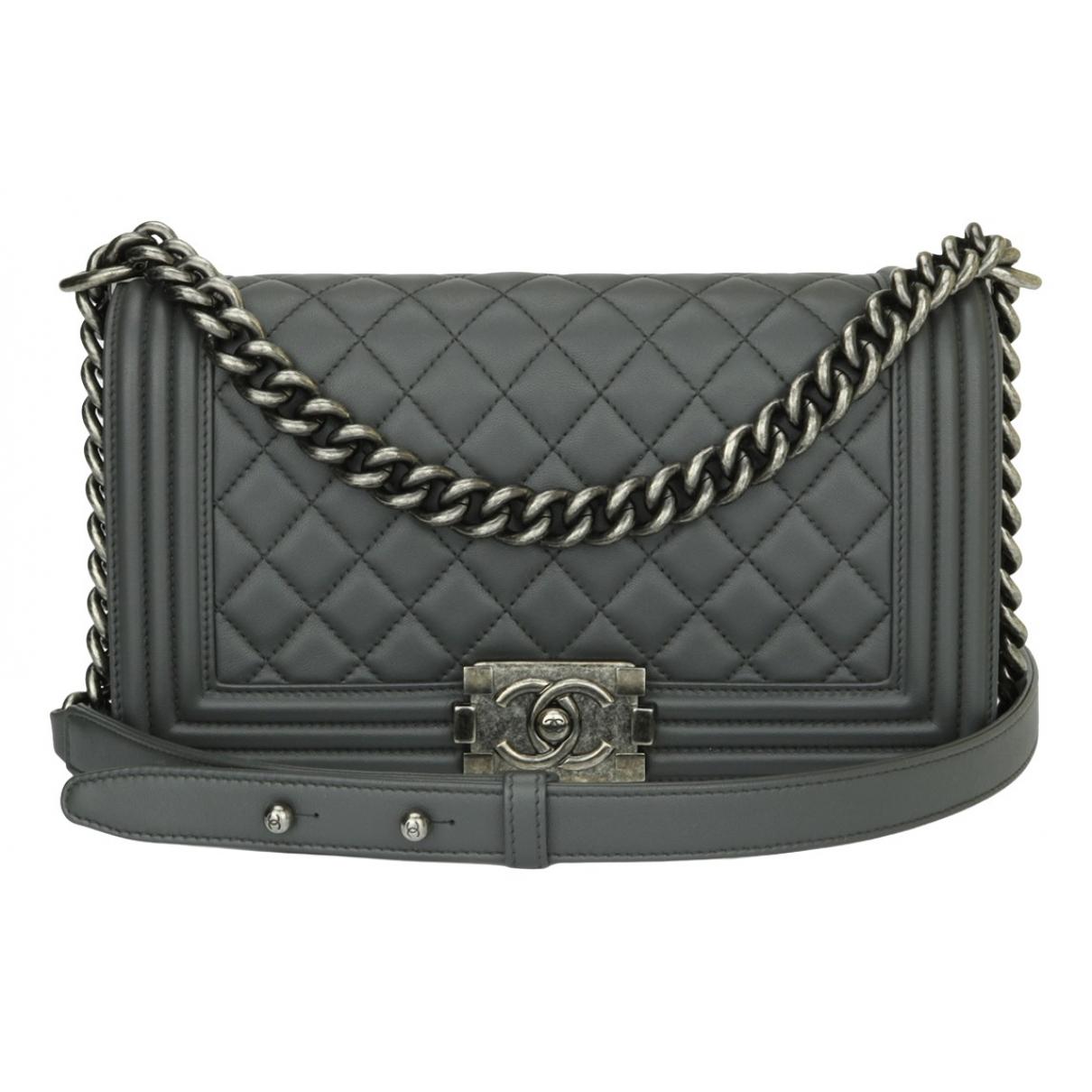 Chanel Boy Grey Leather handbag for Women \N