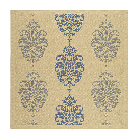 Safavieh Ray Floral Square Indoor/Outdoor Rugs, One Size , Blue