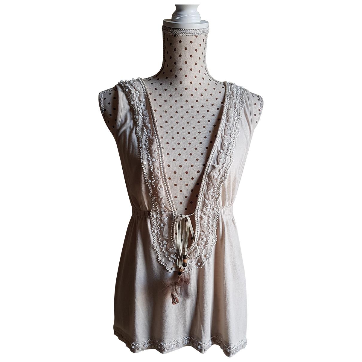 D&g \N Beige Cotton  top for Women 44 IT
