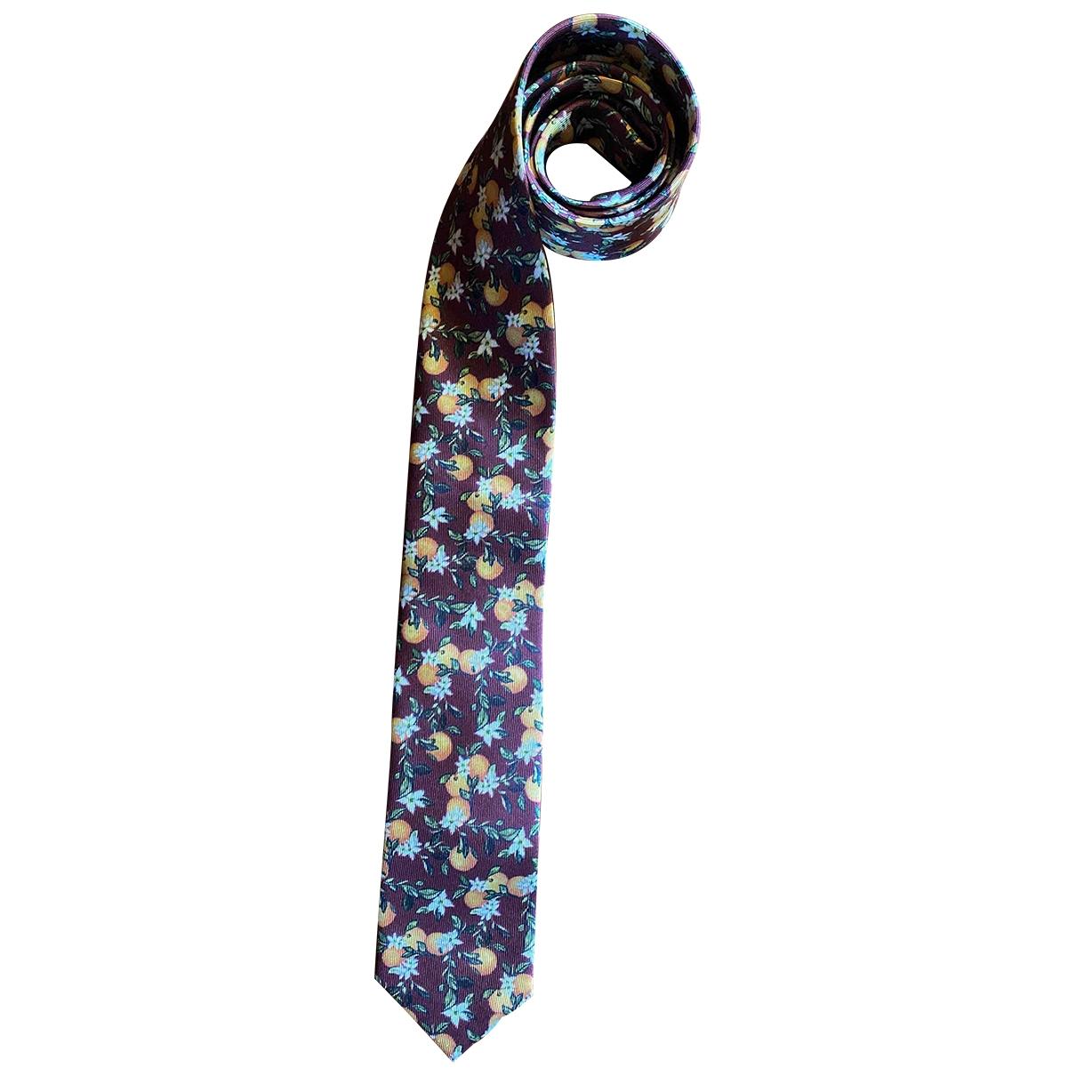 Dolce & Gabbana \N Burgundy Silk Ties for Men \N