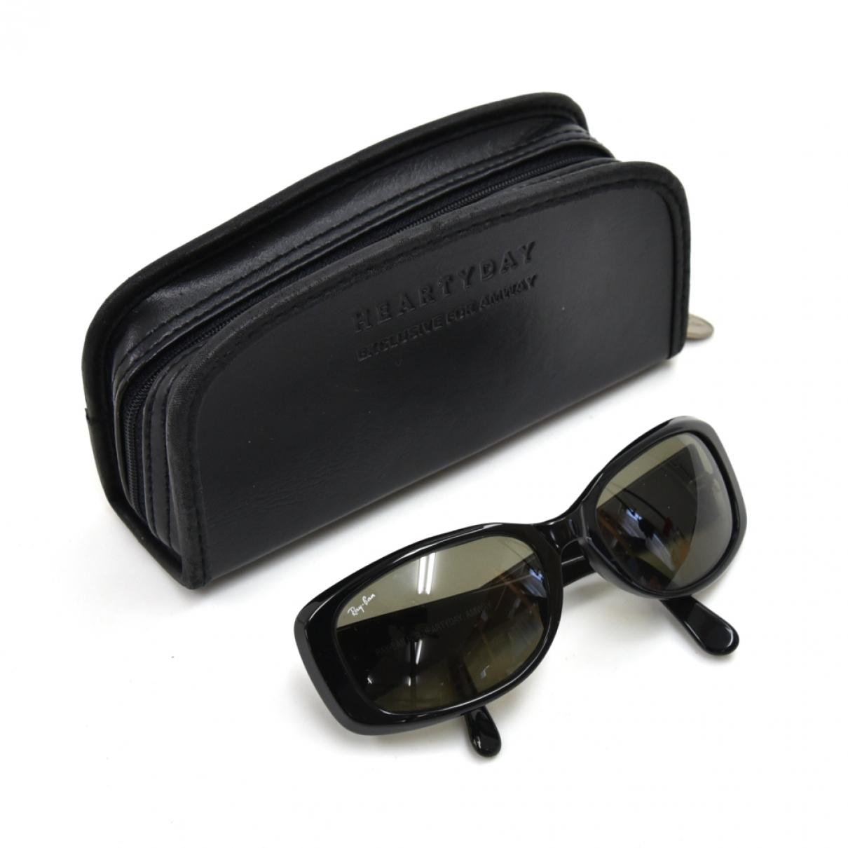 Ray-ban Rectangle  Black Sunglasses for Women \N