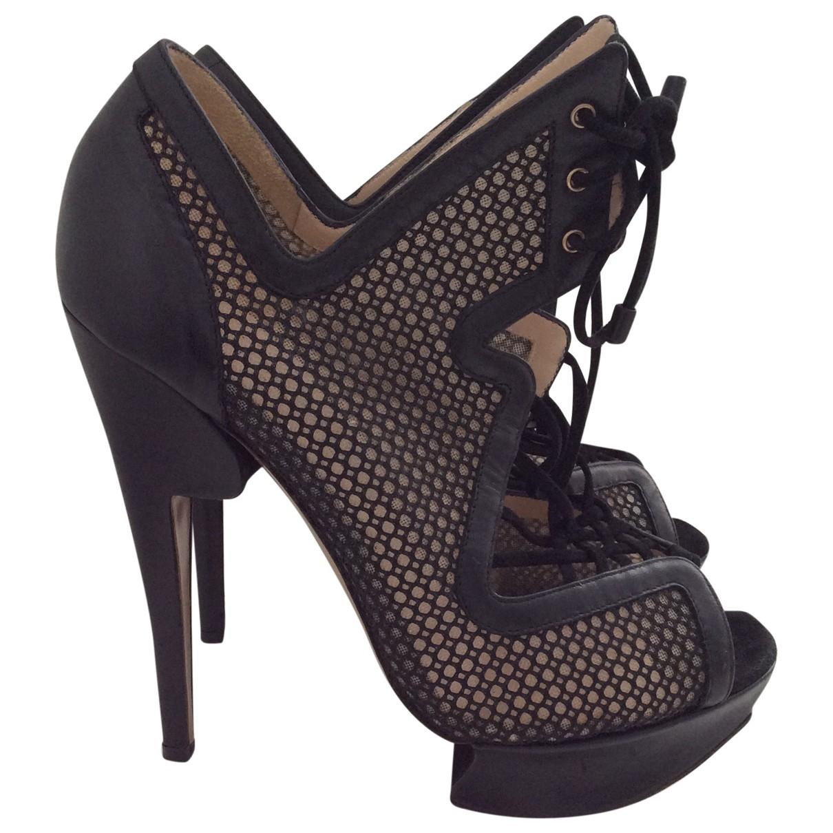Nicholas Kirkwood \N Black Leather Heels for Women 37 EU