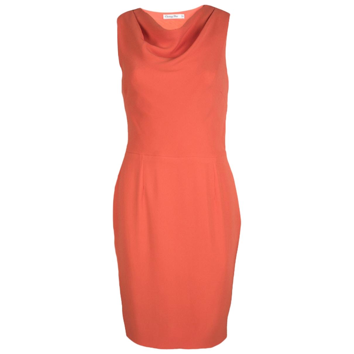 Dior \N Orange Silk dress for Women M International
