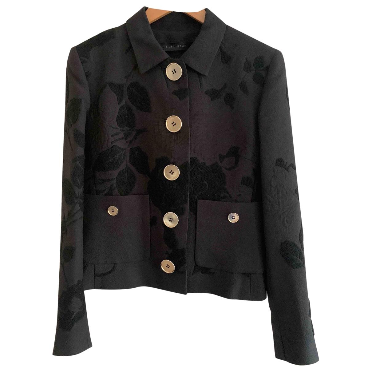 Elie Saab \N Black Wool jacket for Women 42 IT
