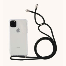 1pc Clear iPhone Case With 1pc Lanyard
