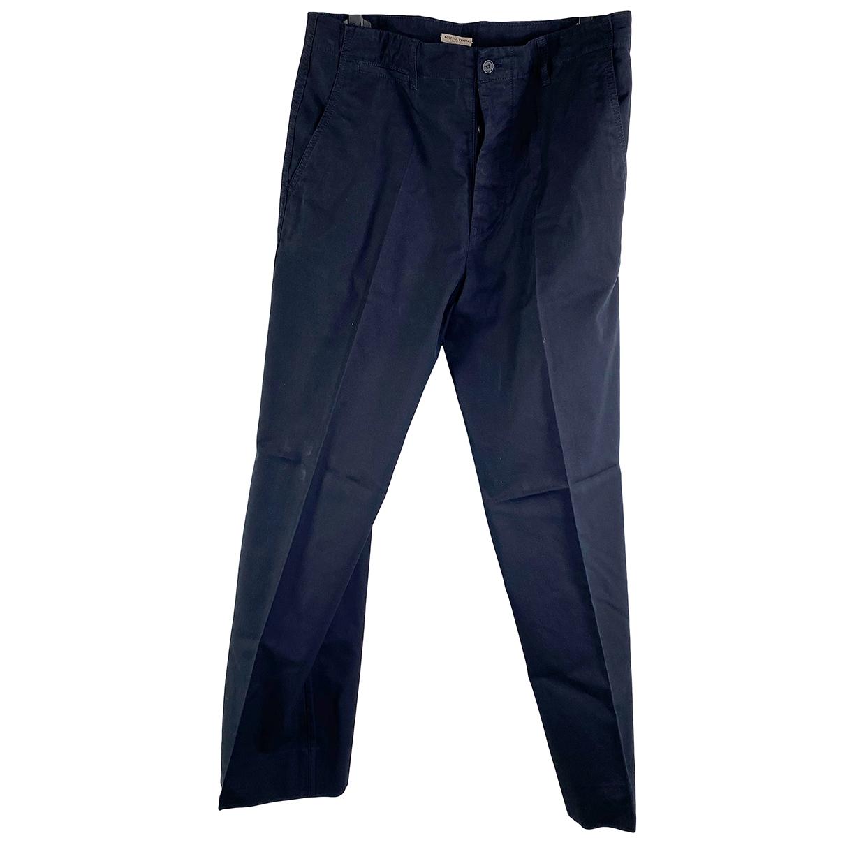 Bottega Veneta \N Black Cotton Trousers for Women 44 IT