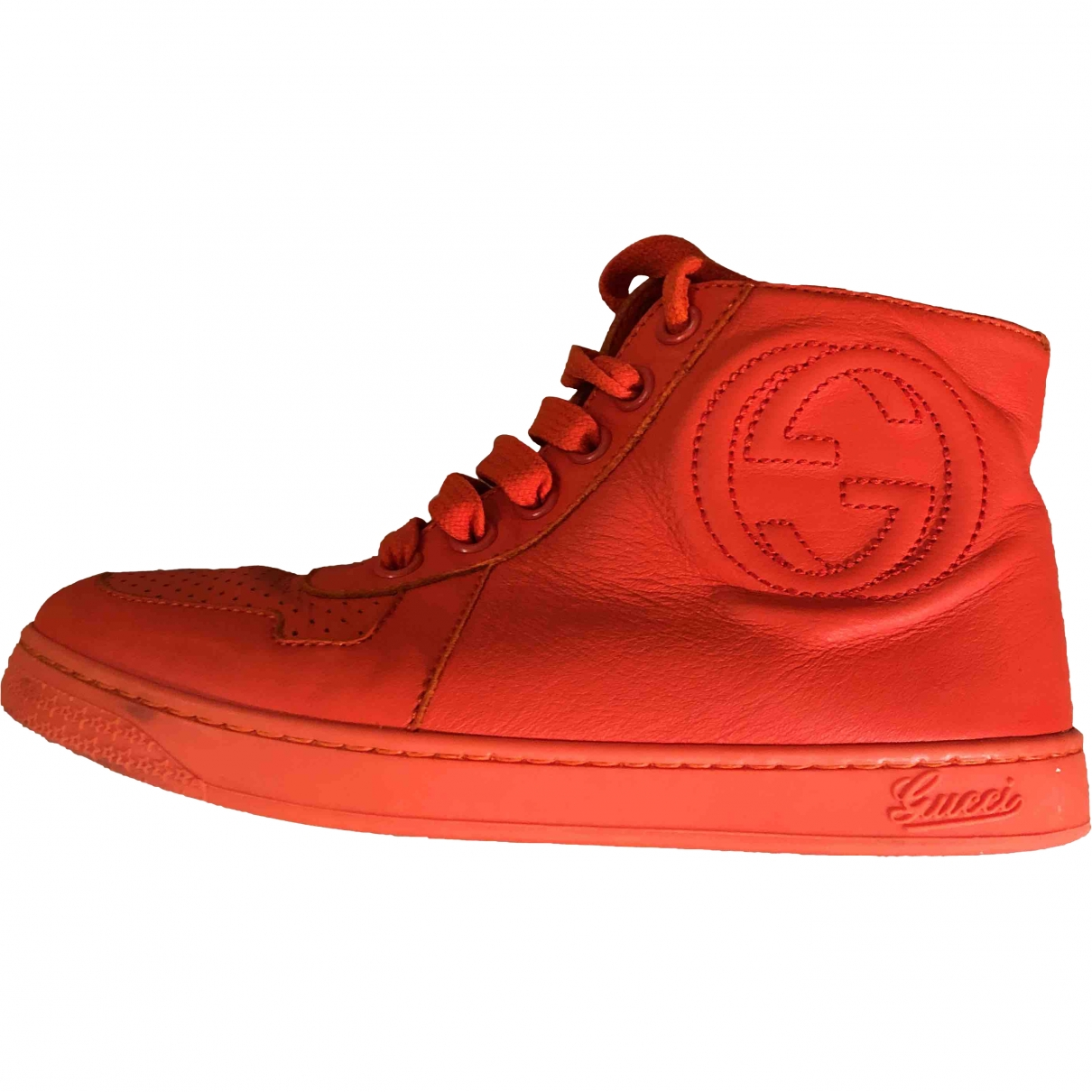 Gucci \N Red Leather Boots for Kids 30 EU
