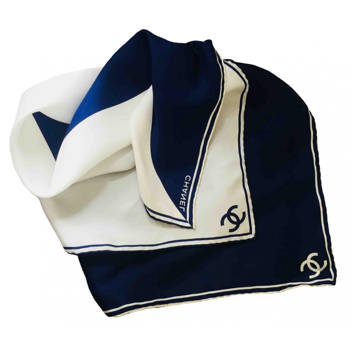 Chanel \N Blue Silk Silk handkerchief for Women \N