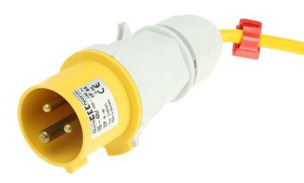 brennenstuhl 25m 2 Socket BS4343/EN60309 110V-16A Extension Reel, 110 V, Grey