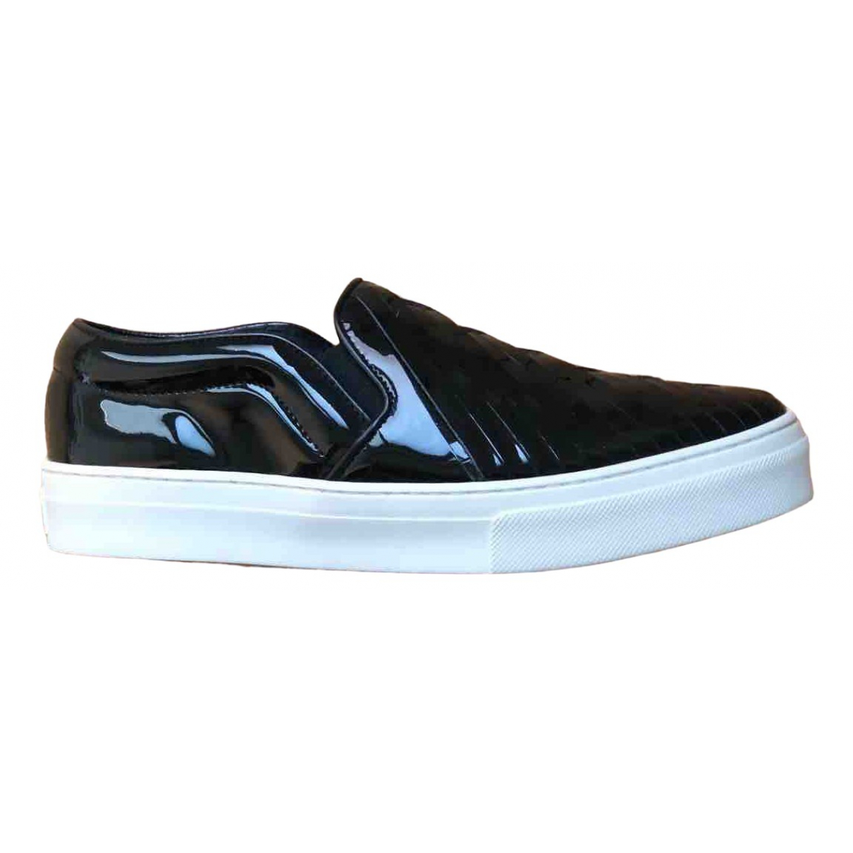 Celine \N Black Patent leather Trainers for Women 37 EU