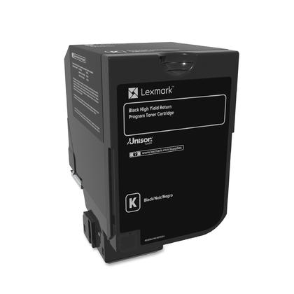 Lexmark 74C1HK0 Original Black Return Program Toner Cartridge High Yield