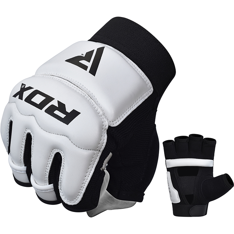 RDX T2 Taekwondo Gloves in PU Leather Small White/Black