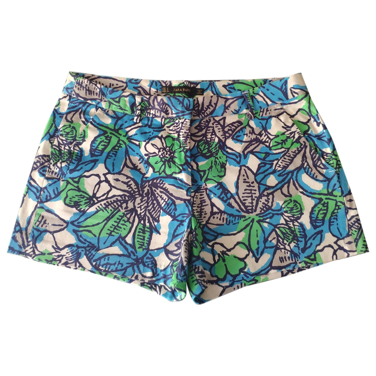 Zara \N White Cotton Shorts for Women M International