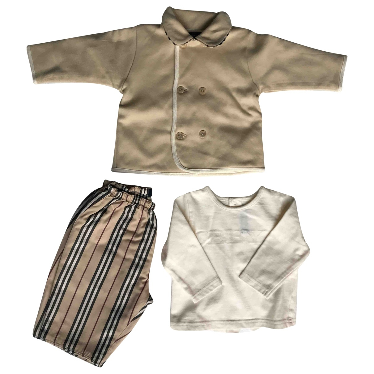 Burberry \N Ecru Cotton Outfits for Kids 3 months - up to 60cm FR
