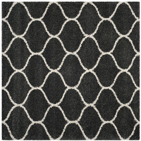 Safavieh Hudson Shag Collection Maria Geometric Square Area Rug, One Size , Multiple Colors