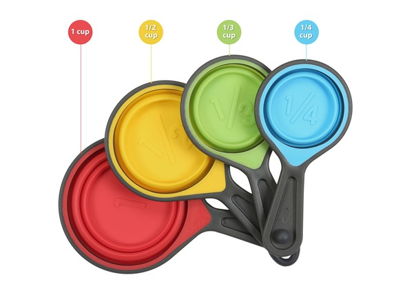 Collapsible Measuring Cups - 4pc Set