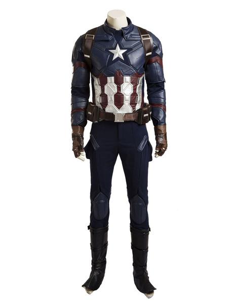 Milanoo Marvel Comics Captain America Steve Rogers Halloween Cosplay Costume Halloween