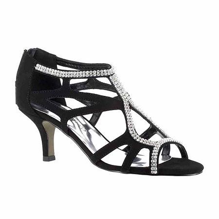 Easy Street Womens Flattery Pumps Spike Heel, 12 Medium, Black