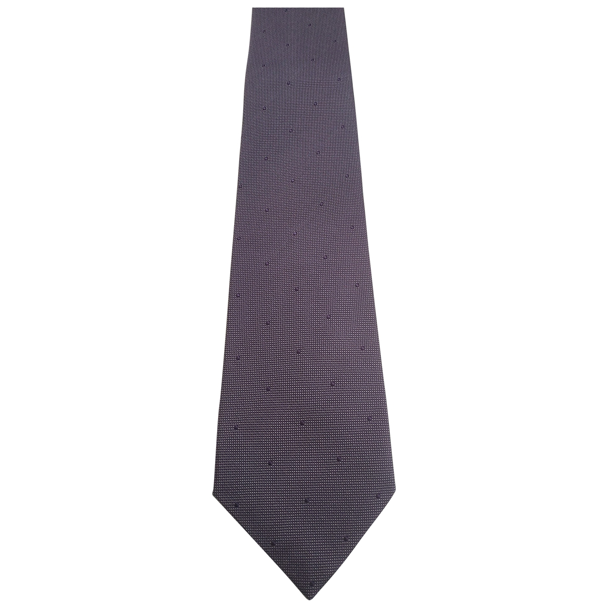 Non Signé / Unsigned \N Purple Silk Ties for Men \N
