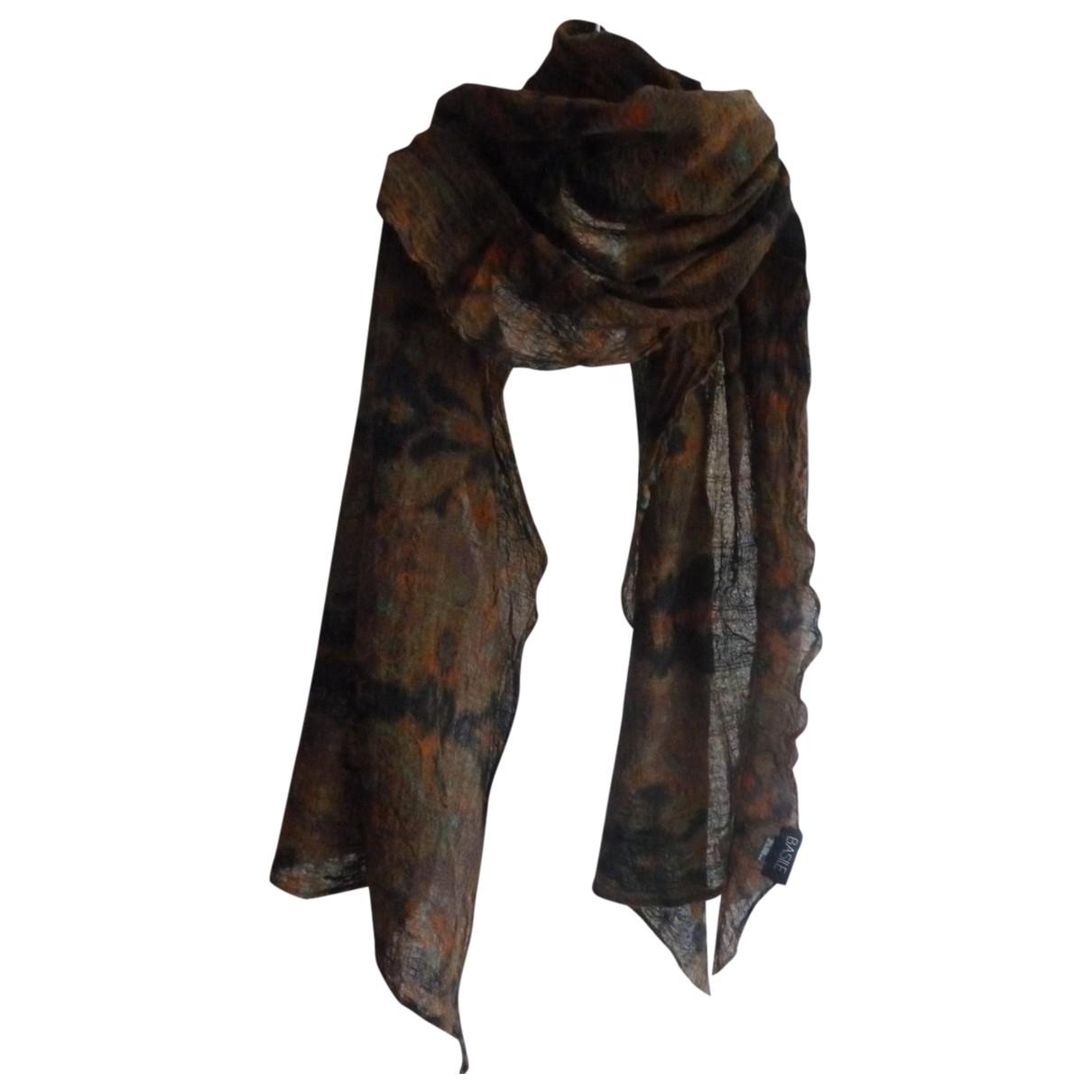 Basile \N Brown Wool scarf for Women \N