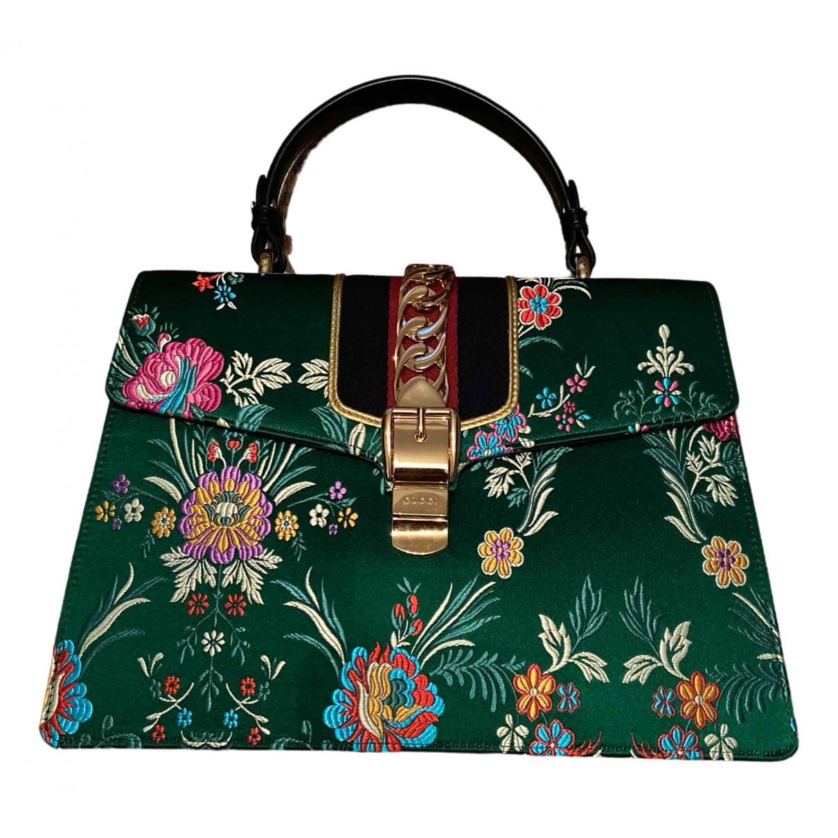 Gucci Sylvie Green Silk handbag for Women \N