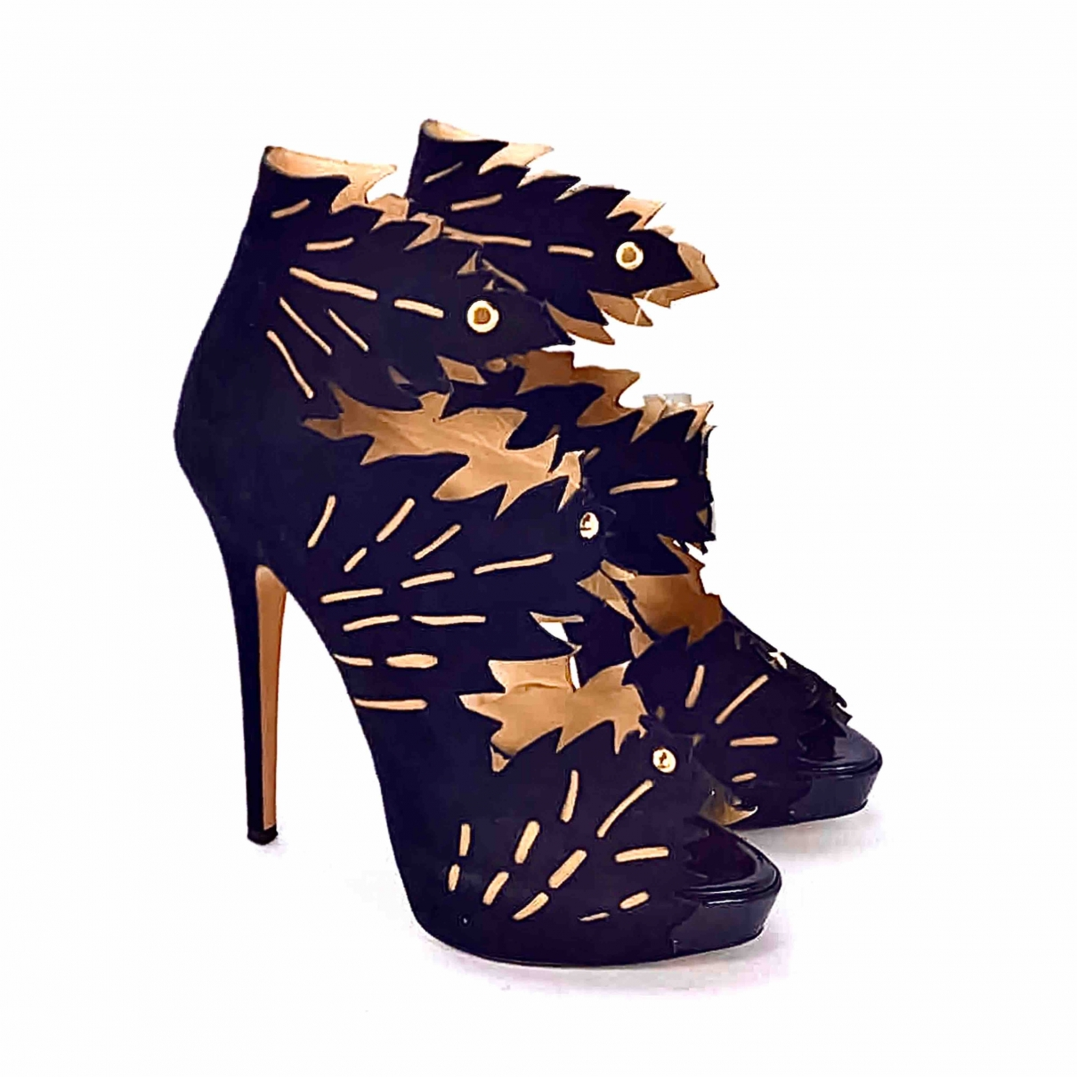 Charlotte Olympia \N Black Suede Sandals for Women 40 EU