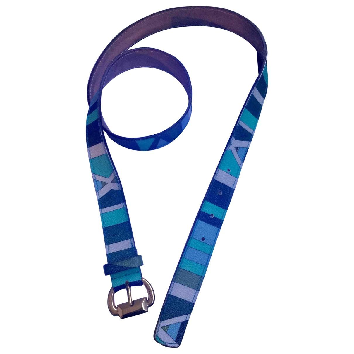 Emilio Pucci \N Green Leather belt for Women L International