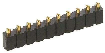 Preci-Dip , 10 Way, 1 Row, Straight Spring Loaded Connector