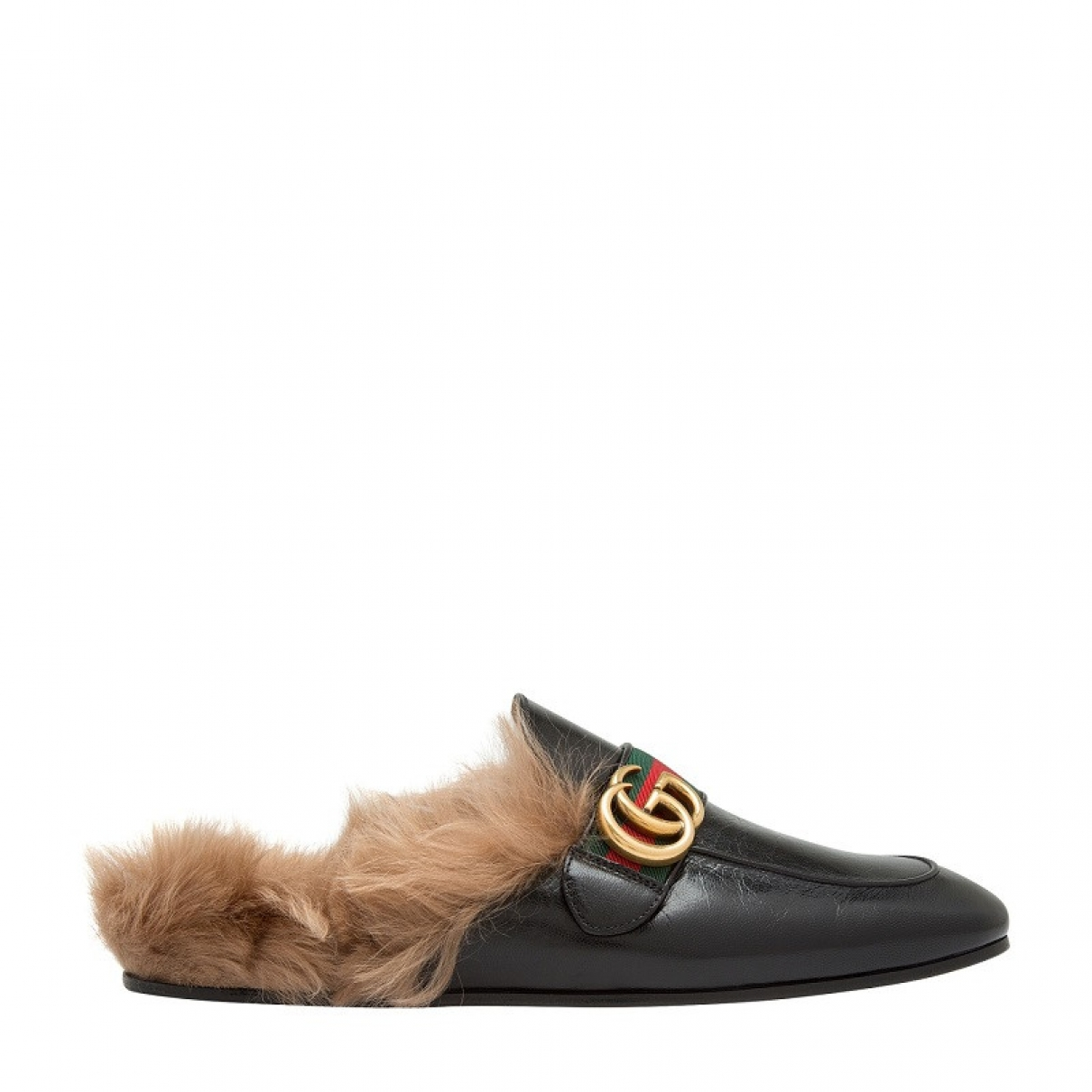 Gucci Princetown Black Leather Flats for Men 6 UK