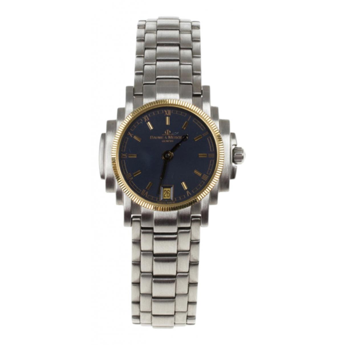 Baume Et Mercier \N Black Steel watch for Women \N