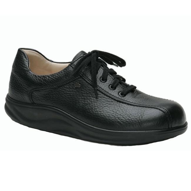 Finn Comfort Watford Black Leather Soft Footbed 105 Uk