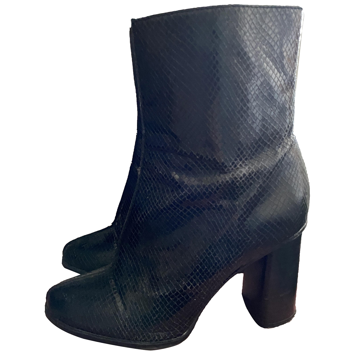 Mango \N Black Patent leather Boots for Women 38 EU