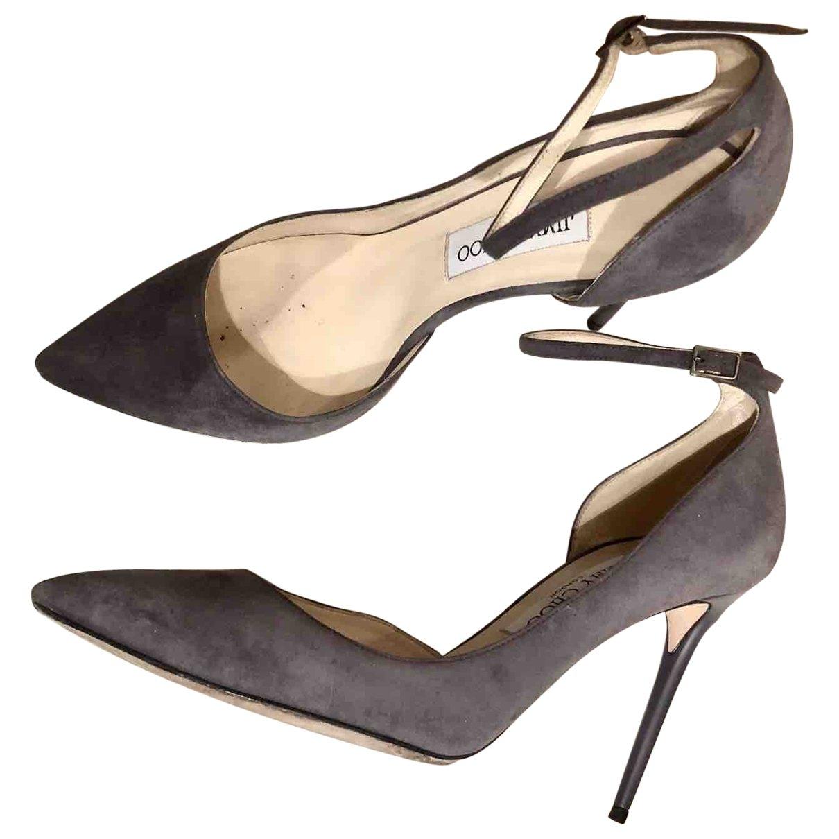 Jimmy Choo \N Grey Suede Heels for Women 38 EU