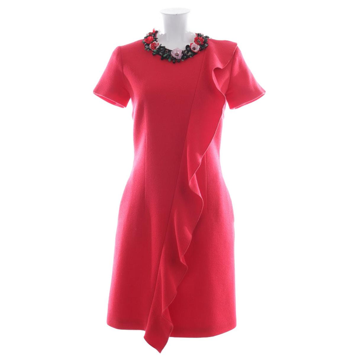 Msgm \N Red Wool dress for Women 34 FR