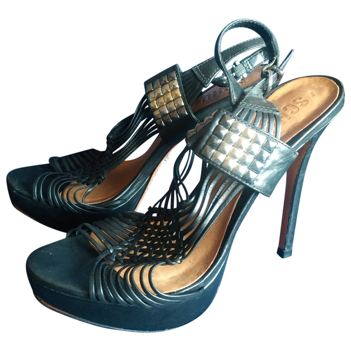 Schutz \N Black Leather Heels for Women 39 EU
