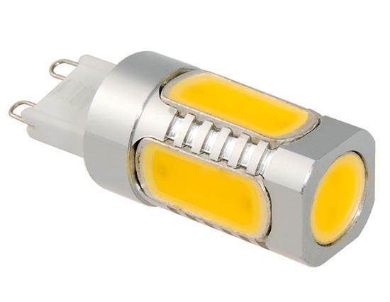 G9 7.5W 85-265V Warm White 3000-3200K 600LM LED Corn Light