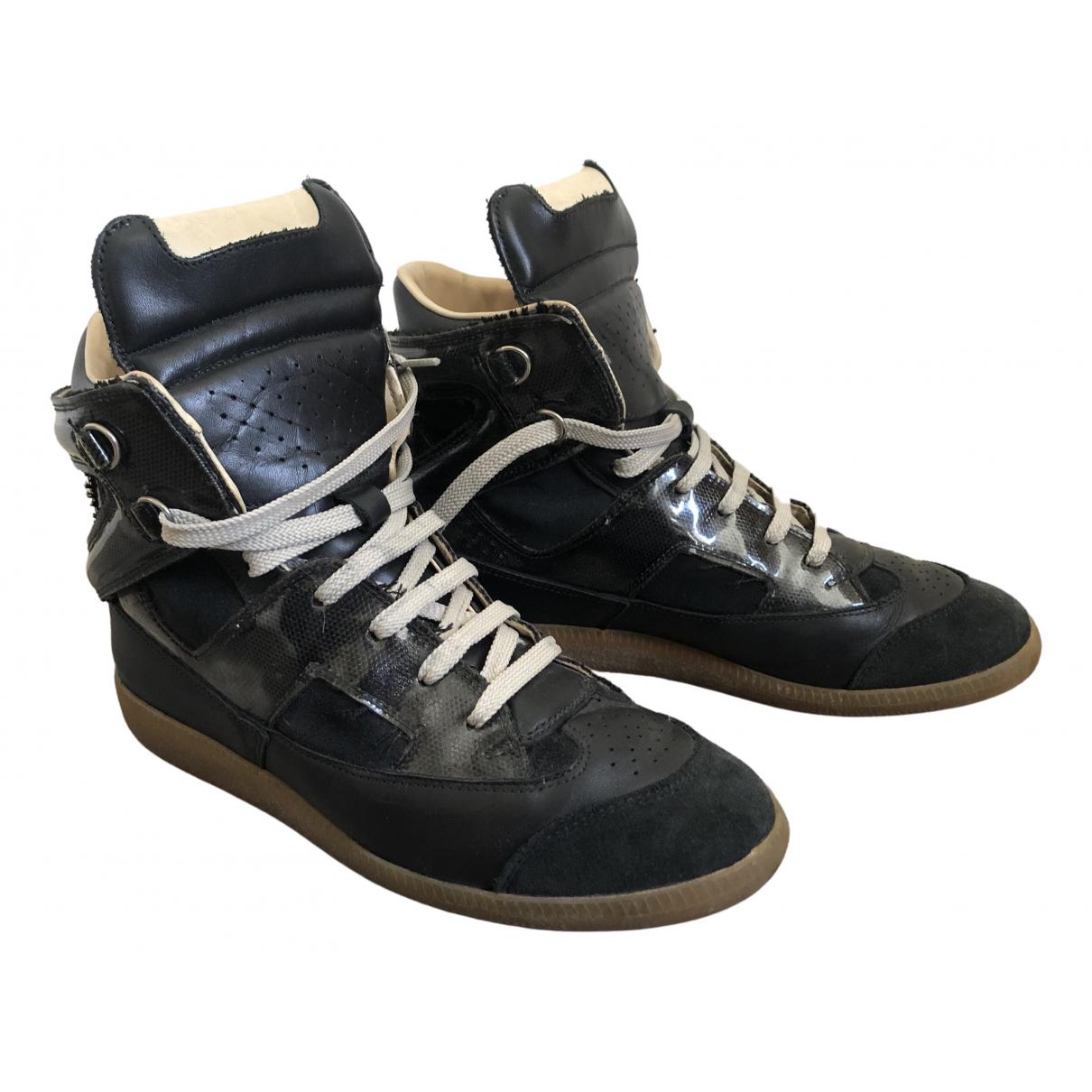 Maison Martin Margiela \N Black Leather Trainers for Women 41 EU