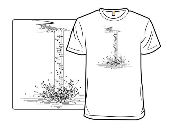 Song Of Nature Waterfall T Shirt