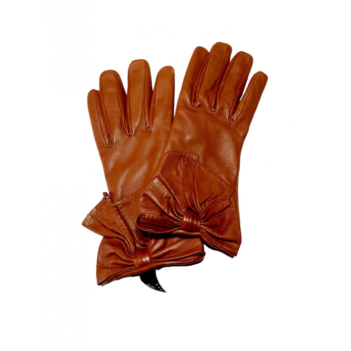 Mango \N Brown Shearling Gloves for Women M International