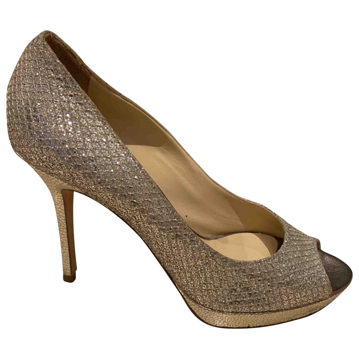Jimmy Choo \N Silver Glitter Heels for Women 37 EU