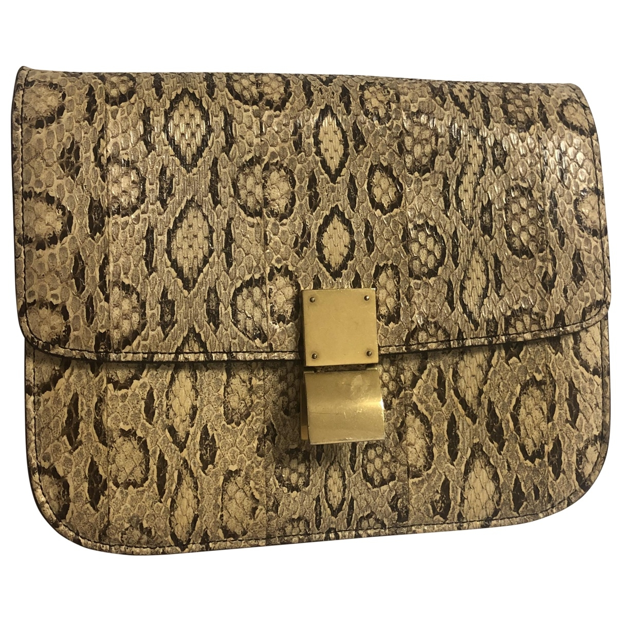 Celine Classic Beige Python handbag for Women \N